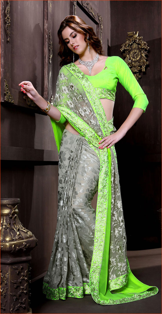 5f3b3f8641 Designer Chiffon Sarees for the Feminine Look! | I News India ...