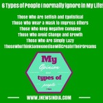 6 Types of People I normally ignore in My Life!