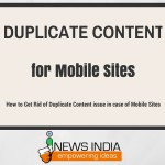 How to Get Rid of Duplicate Content Issue in case of Mobile Sites?