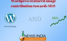 Wordpress featured image - contribution towards SEO