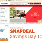 User Experience of Snapdeal Savings Day 11/11
