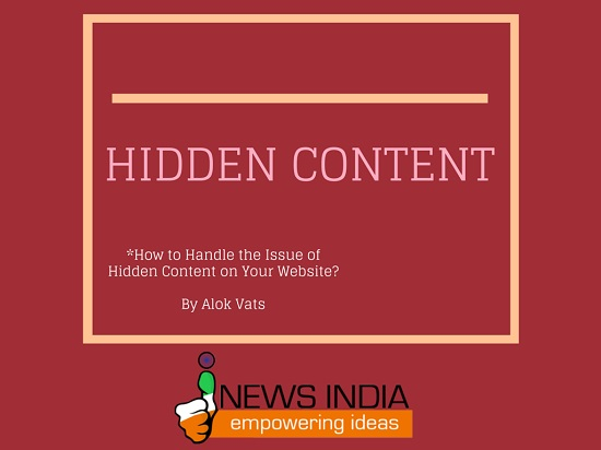 How to Handle the Issue of Hidden Content on Your Website?