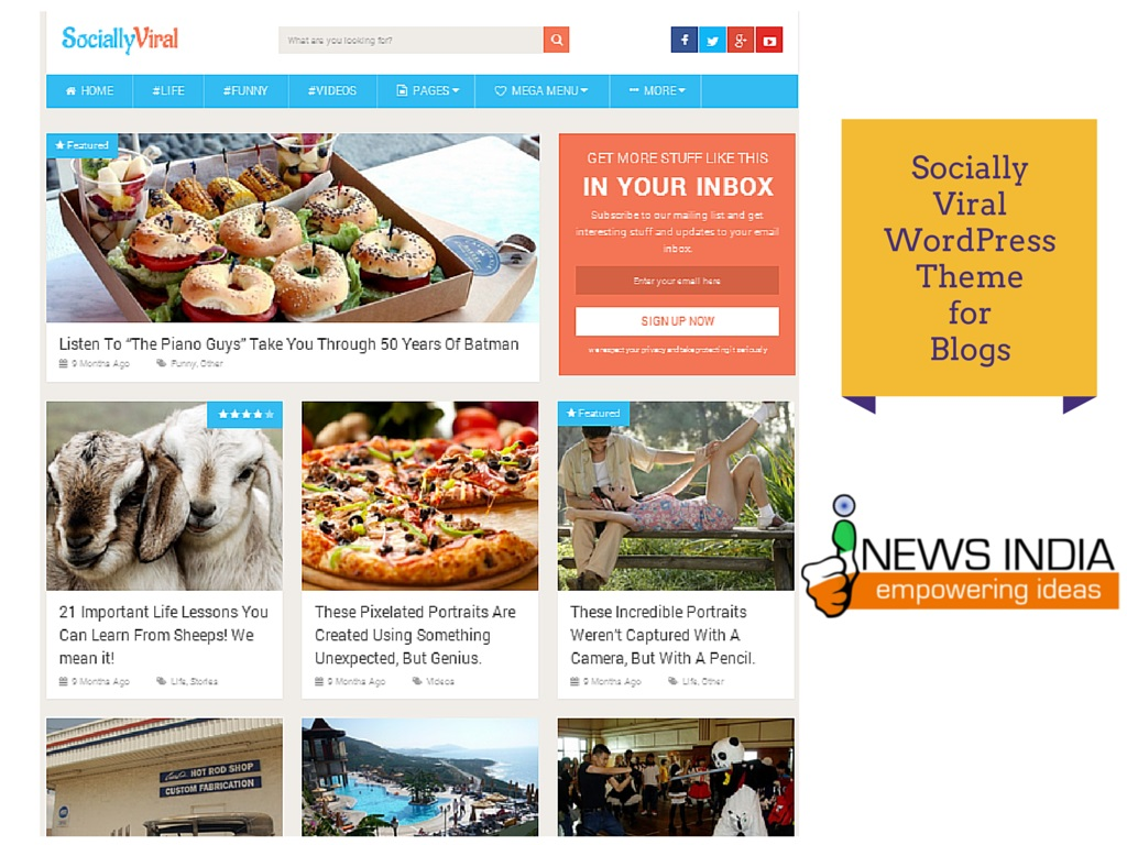 Socially Viral WordPress Theme